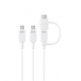 CABLE SAMSUNG V8/TIPO C MULTI CHARGING
