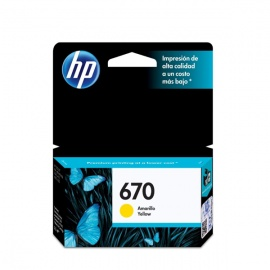 TINTA HP 670 YELLOW