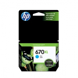 TINTA HP 670 XL CIAN