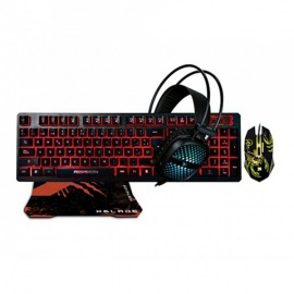 TECLADO XBLADE + MOUSE + AUDIFONO + PAD ASSASSIN X KMH409
