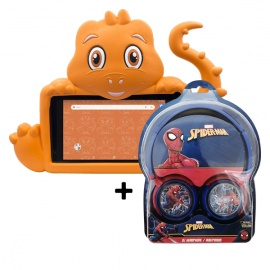 TABLET ADVANCE INTRO TR4995 16GB/1GB + PROTECTOR DINO + AUDÍFONO SPIDERMAN