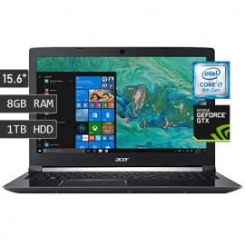 LAPTOP ACER ASPIRE 7 A715-74G-719V / I7-8750H / RAM 8GB / DISCO 1TB / VIDEO 3GB GTX1050 / 15.6""