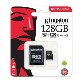 MEMORIA KINGSTON MICRO SD 128GB C10+ADP