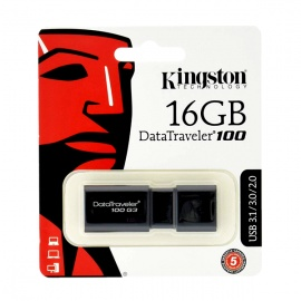 MEMORIA KINGSTON USB 16GB 3.0 DT100 G3 NEGRO