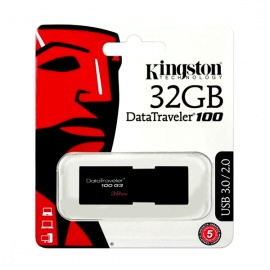 MEMORIA KINGSTON USB 32GB 3.0 DT100 G3 NEGRO
