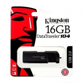 MEMORIA KINGSTON USB DT104 16GB 2.0 NEGRO