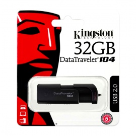 MEMORIA KINGSTON USB DT104 32GB 2.0 NEGRO