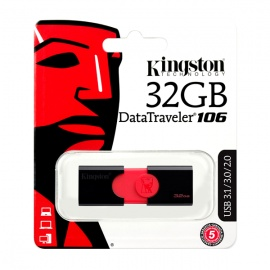 MEMORIA KINGSTON USB DT106 32GB 3.0 ROJO/NEGRO