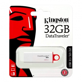 MEMORIA KINGSTON USB DTIG4 32GB 3.0 BLANCO/ROJO