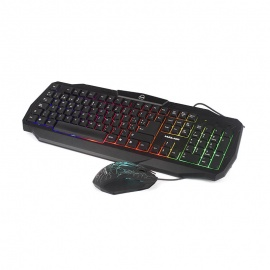 TECLADO HALION+MOUSE GAMING RAINBOW HA-805C