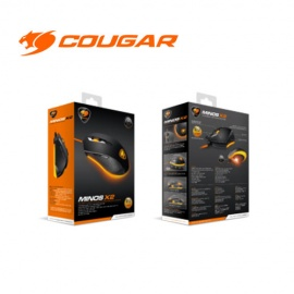 MOUSE COUGAR MINOS X2 NEGRO