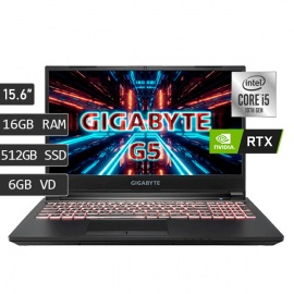 "LAPTOP GIGABYTE G5 I5-10500H/16GB/512SSD/V6GB/15.6""FREEDOS"